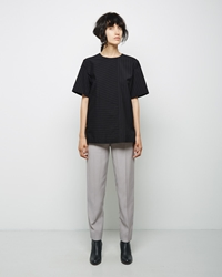 Maison Martin Margiela Line 4 Cropped Crepe Pant Light Grey