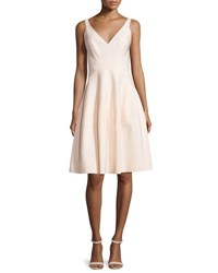 J. Mendel Sleeveless V Neck Cocktail Dress Blush
