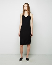 Alexander Wang Cotton Knit Sleeveless Dress Black