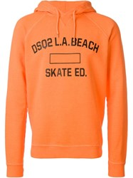 Dsquared2 Logo Hoodie Yellow And Orange