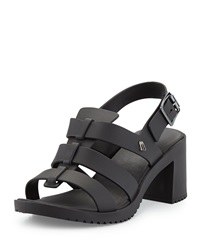 Floxhigh Block Heel Sandal Black