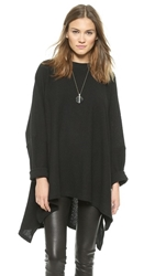 Oak Oversized Boucle Pullover Black