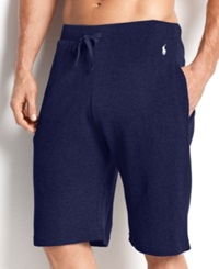 Polo Ralph Lauren Men's Loungewear Waffle Thermal Shorts Cruise Navy