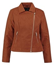 Dorothy Perkins Faux Leather Jacket Brown Tan