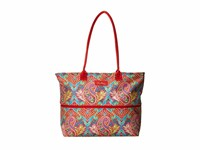 Vera Bradley Lighten Up Expandable Travel Tote Paisley In Paradise Tote Handbags Multi