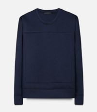 Christopher Kane Scuba Frame Sweater Blue
