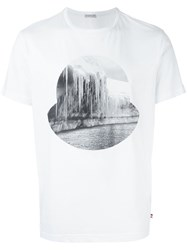 Moncler Icicle Print Logo T Shirt White