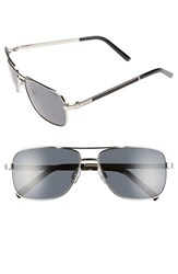 Men's Polaroid Eyewear 58Mm Polarized Navigator Sunglasses Palladium
