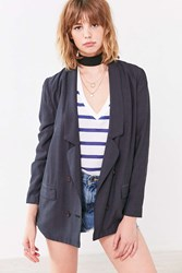 Silence And Noise Pippa Oversized Blazer Navy