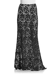 Winston White Laredo Lace Maxi Skirt Black