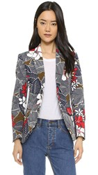 Dsquared Print Jacket Blue
