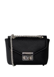 Hallhuber Mini Shoulder Bag With Chain Handle Black