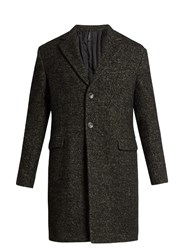 Helbers Single Breasted Boucle Overcoat Grey