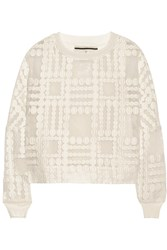 By Malene Birger Pura Embroidered Organza Top White