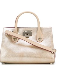 Jimmy Choo 'Riley' Tote Metallic