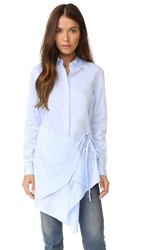 3.1 Phillip Lim Long Sleeve Apron Top Light Blue