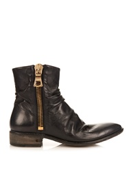 John Varvatos Richards Wide Zip Leather Boots