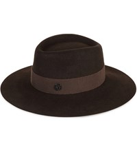 Maison Michel Charles Felt Hat Chocolate