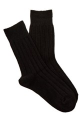 Shimera Cozy Rib Crew Socks Black
