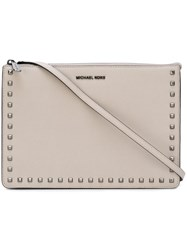 Michael Michael Kors 'Ava' Convertible Clutch Nude And Neutrals