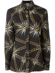 Fausto Puglisi Printed Button Down Shirt Black
