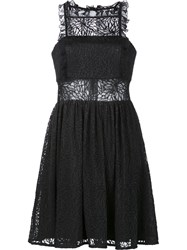 Jay Godfrey Lace Overlay Dress Black
