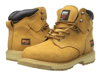 Timberland 6 Pit Boss Soft Toe Wheat Nubuck Leather Men's Work Lace Up Boots Tan