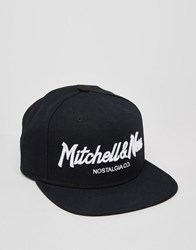 Mitchell And Ness Snapback Cap Pinscript Black