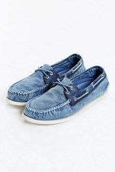 Sperry Authentic Original 2 Eye Washed Wedge Boat Shoe Navy