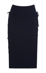 Tabula Rasa Aura Lace Up Pencil Skirt Navy