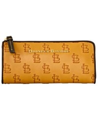 Dooney And Bourke St. Louis Cardinals Leather Zip Clutch Red