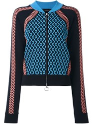 Versace Runway Knit Sport Jacket Blue