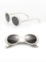 Saint Laurent Sl 98 California 53Mm Oversized Oval Sunglasses Ivory