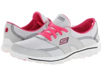 Skechers Performance Go Walk 2 Golf Gray Pink Women's Lace Up Casual Shoes
