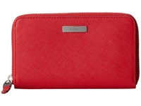 Ecco Firenze Medium Zip Wallet Chili Red Wallet Handbags