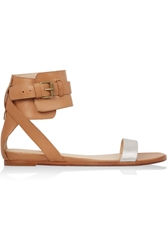 Pour La Victoire Riko Two Tone Leather Sandals