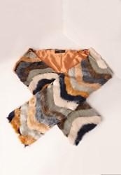 Missguided Patchwork Oversized Faux Fur Scarf Multi