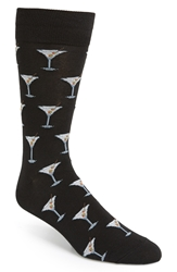 Hot Sox 'Martini' Socks Black