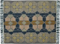 Cb2 Hand Knotted Stained Glass Rug 8'X10'.
