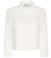Red Valentino Broderie Anglaise Cotton Blazer White