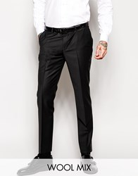 Noose And Monkey Tuxedo Suit Trousers With Stretch In Super Skinny Fit Black