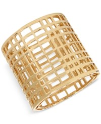 Inc International Concepts M. Haskell For Gold Tone Open Cage Hinged Bracelet Only At Macy's