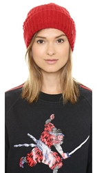 Marc By Marc Jacobs Walley Beanie Hat Light Cabernet Red