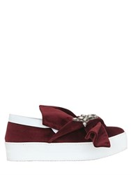 N 21 40Mm Bow Embellished Velvet Sneakers