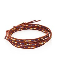 Chan Luu Japanese Seed Bead Wrap Bracelet Brown Multi