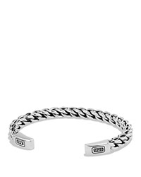 David Yurman Chain Woven Cuff Bracelet Silver