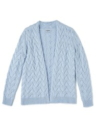 Dash Chunky Cable Cardi Blue