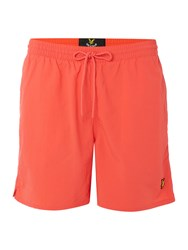 Lyle And Scott Classic Logo Swim Shorts Red