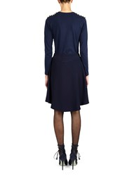 Alexis Mabille T Shirt With M Embroidery Navy Blue