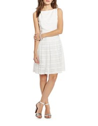 Lauren Ralph Lauren Striped Fit And Flare Dress White